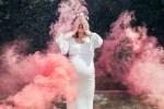 Des fumigènes pour une baby shower ou une gender reveal.