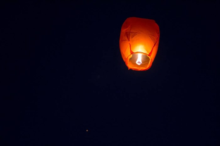 Comment lâcher une lanterne volante ?