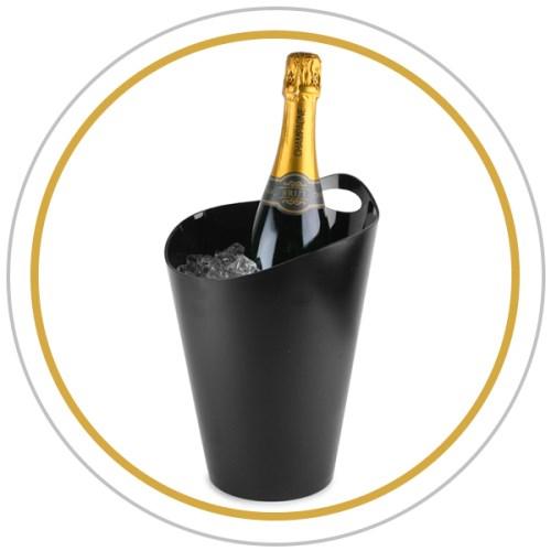 Conserver du champagne au frais dans une vasque.