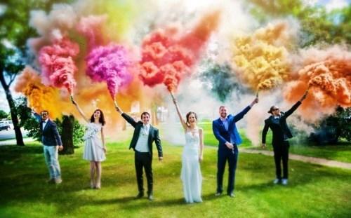 Trouver des fumigènes pour votre mariage !
