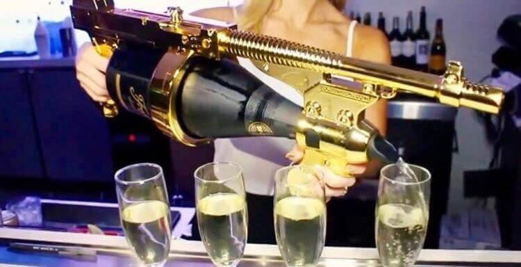 CHAMPAGNE GUN  BLEU ICE
