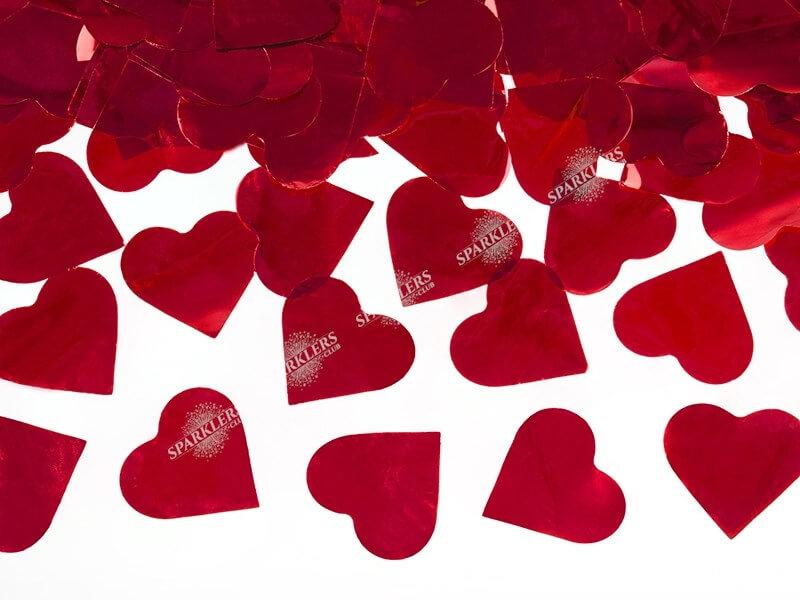 Canons confettis 60cm coeur rouge