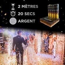 Jets de scène 2 Mètres / 20 secondes Argent
