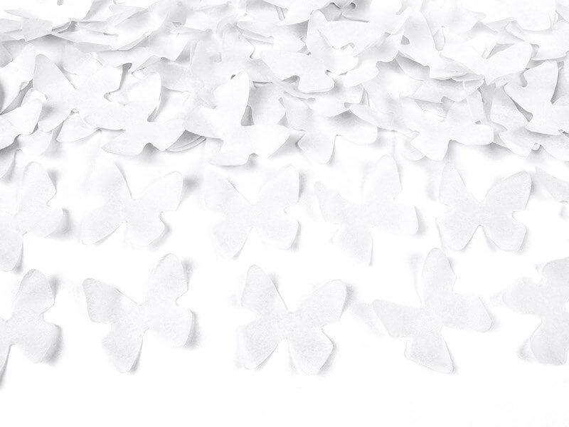 Canons à confettis 80 CM Papillons blanc