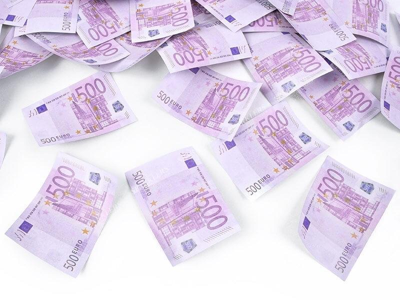 Canons confettis 80CM billets 500€
