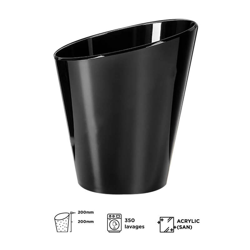 Vasque à champagne noire Acrylic (petit modèle)