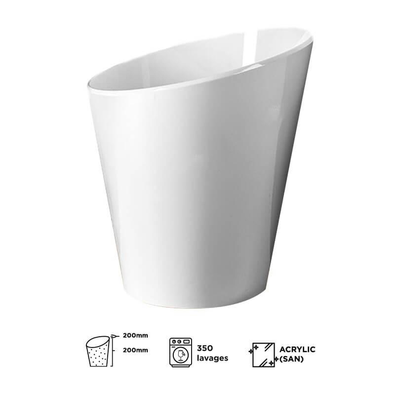Vasque à champagne blanche Acrylic (petit modèle)