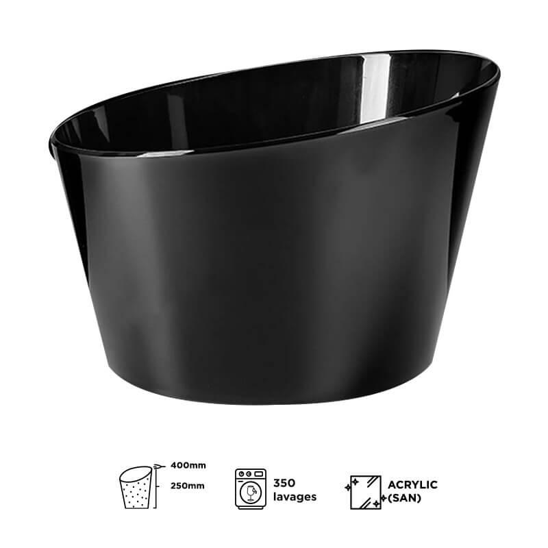 Vasque à champagne noire Acrylic (grand modèle)