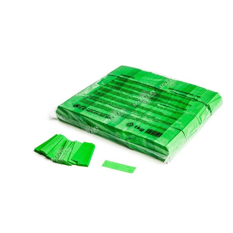 Sac 1KG confettis vert Magic FX