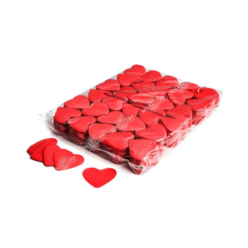 Sac 1KG confettis coeur rouge Magic FX