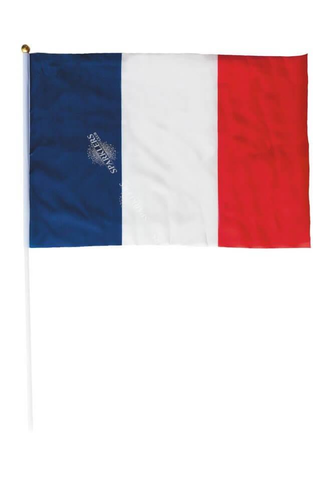 Drapeau France avec baguette 30x45cm