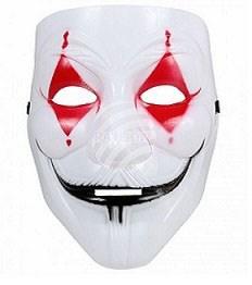 Masque coque arlequin d'horreur