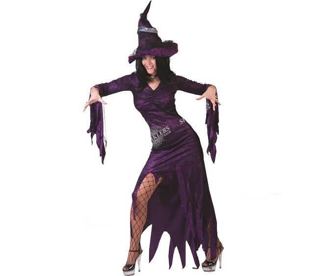 Déguisement de sorcière violet femme S/M