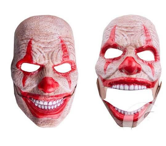 Masque coque de clown d'horreur