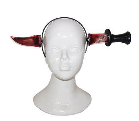Serre-tête couteau ensanglanté 40cm