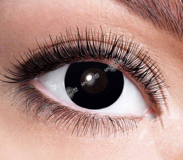 Lentilles de contact sorcière iris noir