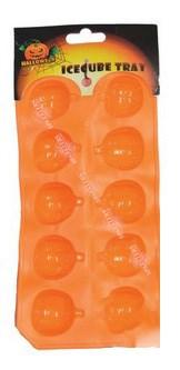 Bac à glaçons motif citrouille Orange