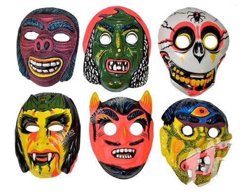 Pack 6 Masques coques bariolés d'horreurs
