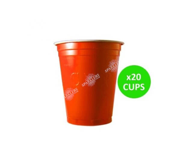 Lot 20 Gobelets Cup Orange 53cl