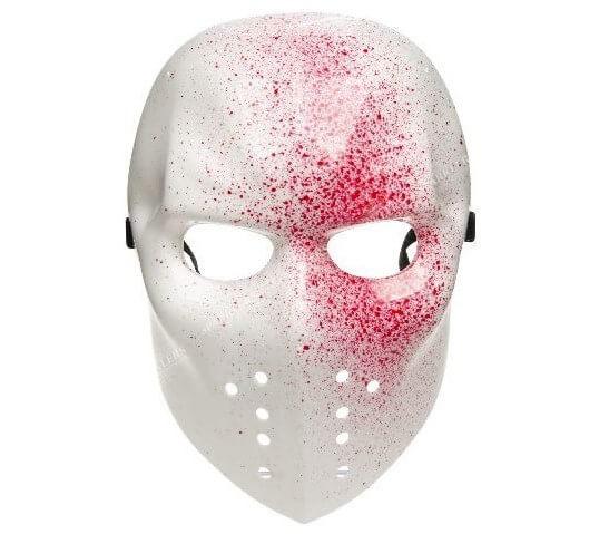 Masque de hockey sanglant