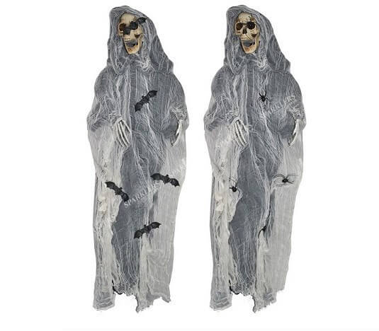 Zombie squelette lumineux 175cm