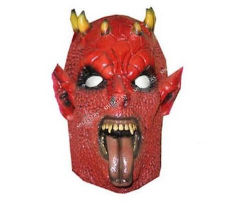 Masque de démon diable rouge