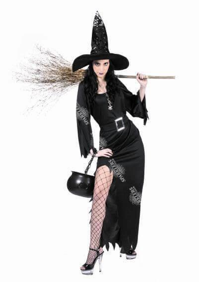 déguisement de sorcière NOIR Taille S-M