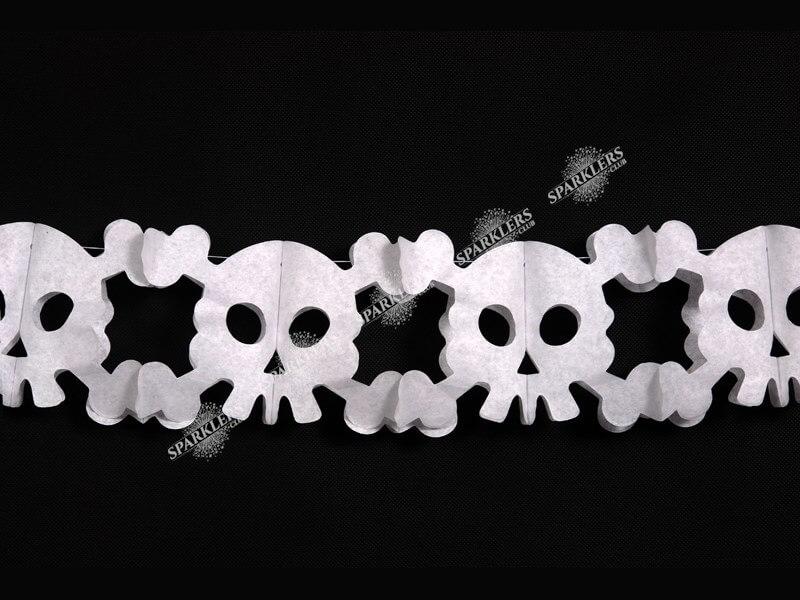 Guirlande en papier Halloween avec tête de mort 300cm
