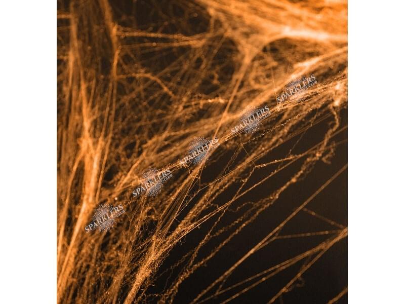 Toile d'araignée Halloween couleur orange 60gr