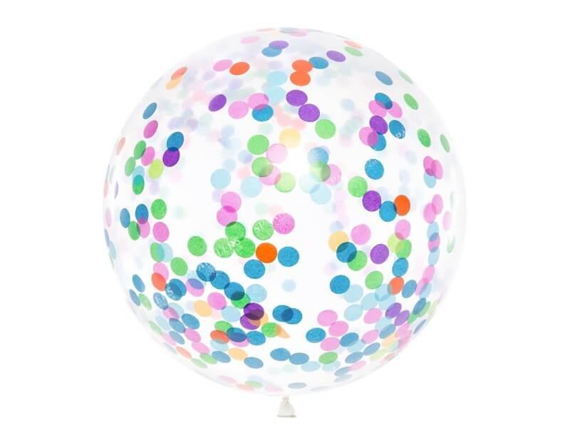Ballons Confettis Géant 100cm