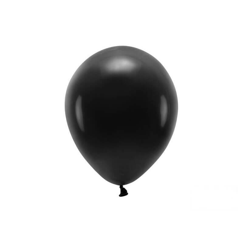 Lot de 100 Ballons de Baudruche Biodégradable Noirs