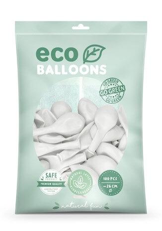 Lot de 100 Ballons de Baudruche Biodégradable Blancs