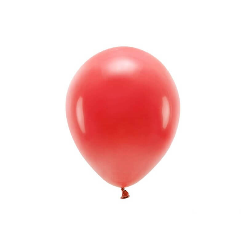 Lot de 100 Ballons de Baudruche Biodégradable Rouges