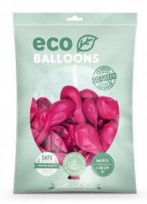 Lot de 100 Ballons Pastel Biodégradable Rose Foncé