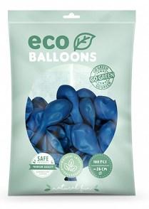 Lot de 100 Ballons de Baudruche Biodégradable Bleus