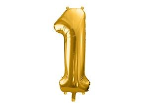 Ballon chiffre 1 Or (gold) 86cm