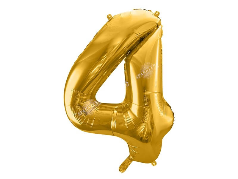 Ballon chiffre 4 Or (gold) 86cm