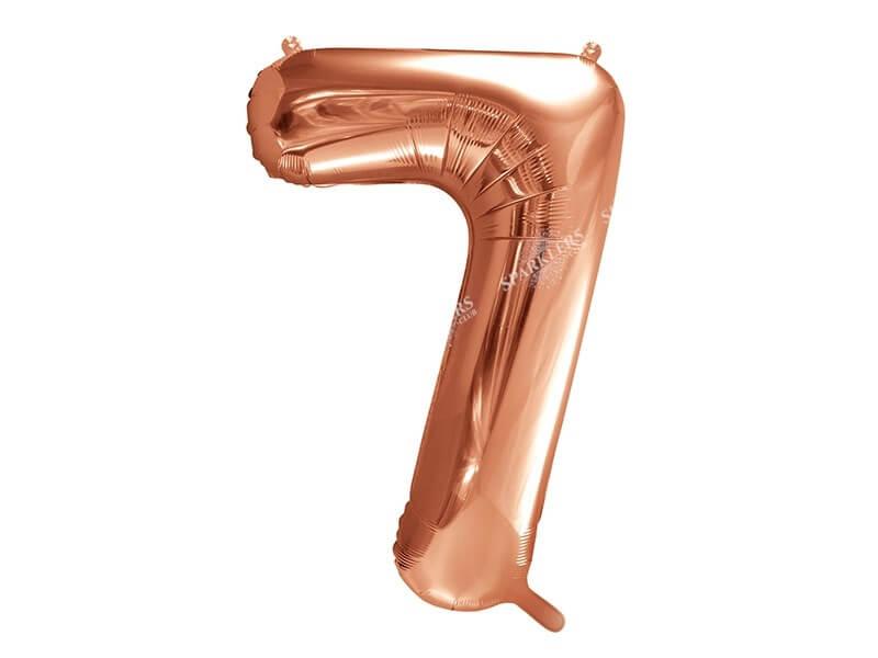Ballon anniversaire chiffre 7 Or Rose 86cm