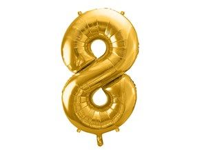 Ballon chiffre 8 Or (gold) 86cm