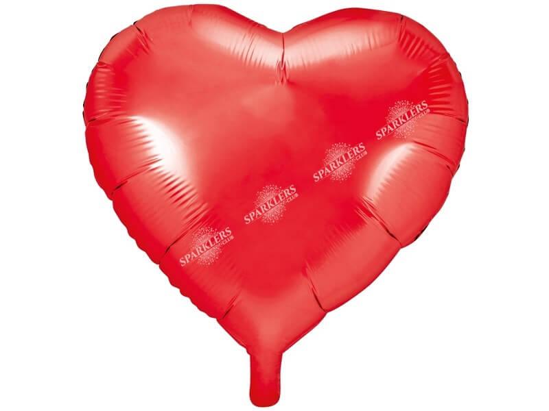 Ballon Coeur rouge métallique 61cm