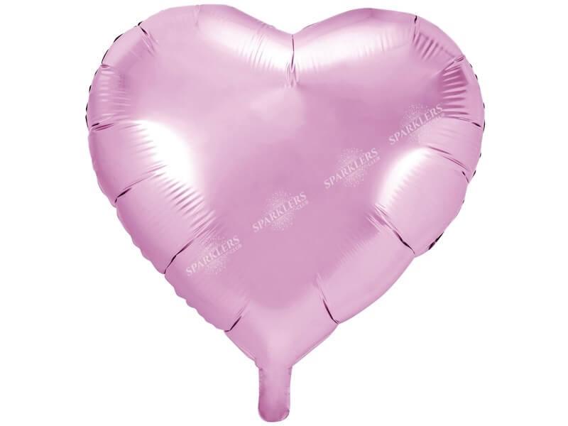 Ballon Coeur rose métallique 61cm