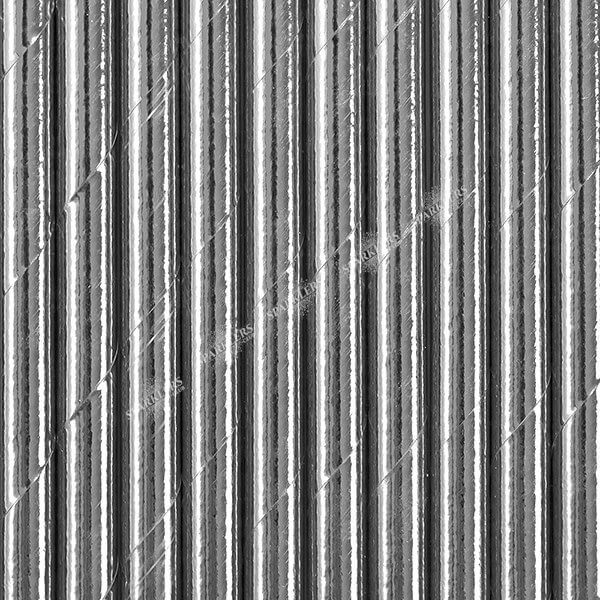 100 Pailles en papier couleur argent