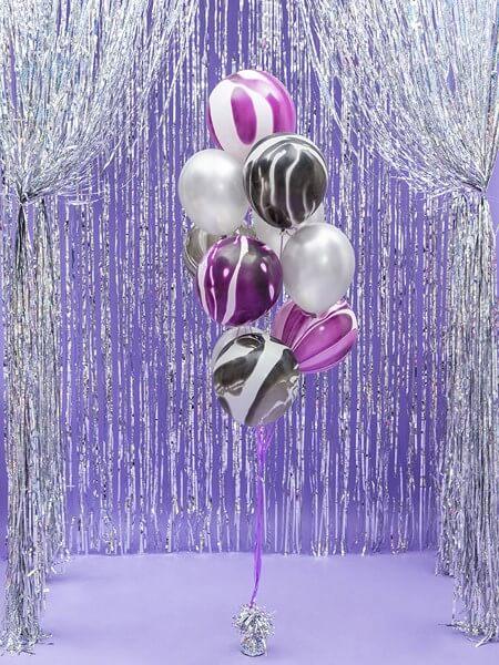 Lot de 100 Ballons Argent Métalliques