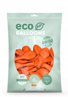 Lot de 100 Ballons de Baudruche Biodégradable Orange
