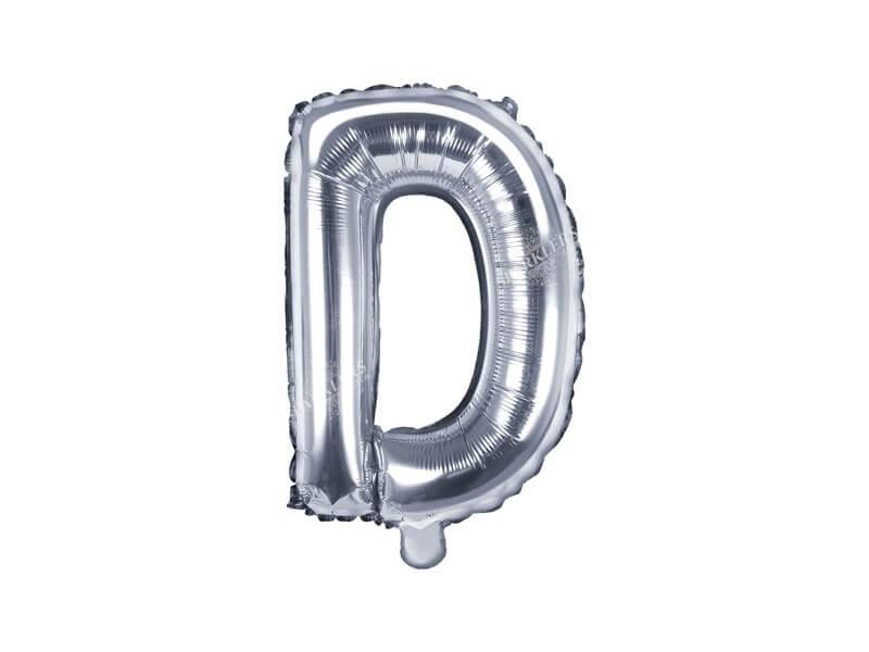 Ballon Lettre D argent - 35cm