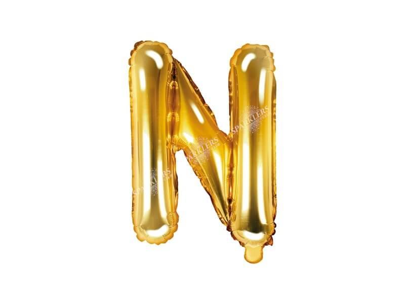 Ballon Lettre N Or - 35cm
