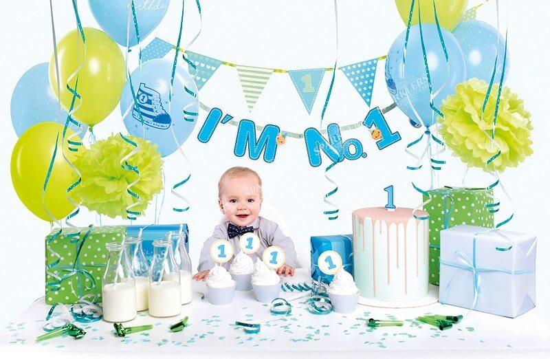 Kit décoration 1er anniversaire bleu