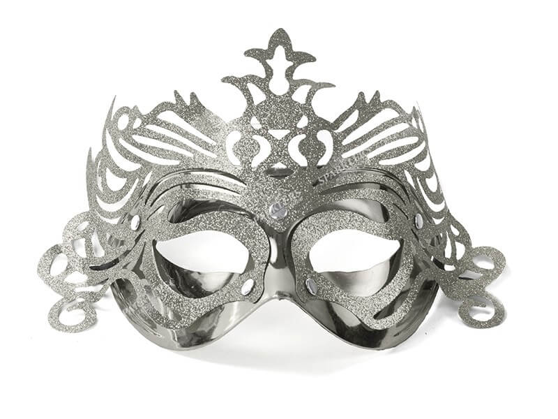 Masque vénitien avec ornement argent