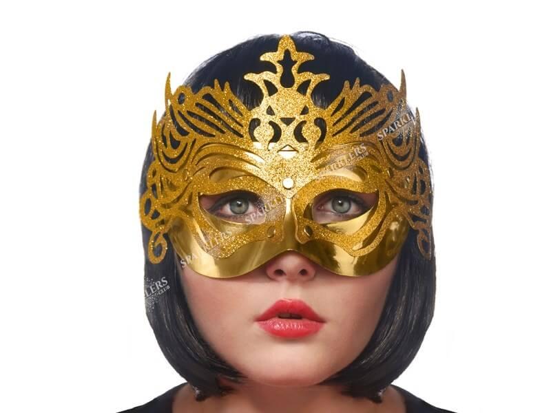 Masque Vénitien Avec Ornement Or