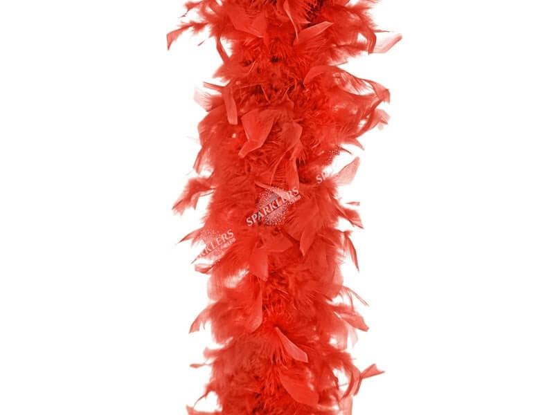 Boa Rouge en plumes